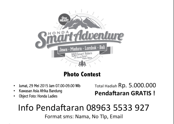Contest Honda Smart Adventure 2015