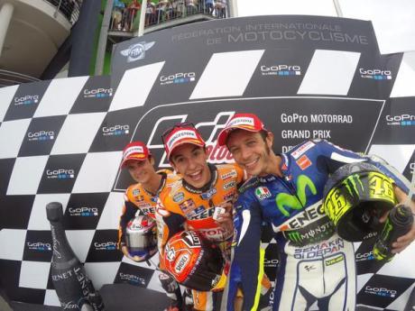Marquez Pedrosa Rossi Selfie dengan GoPro