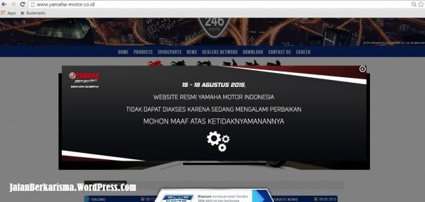 Web Site Yamaha Maintenance
