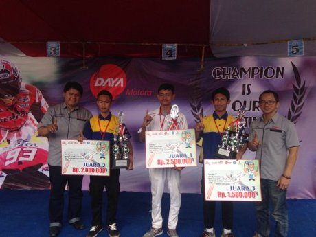 Juara Kontes Mekanik SMK Jawa Barat