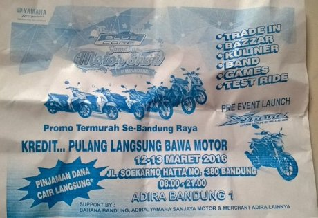 Launching Yamaha Xabre di Bandung