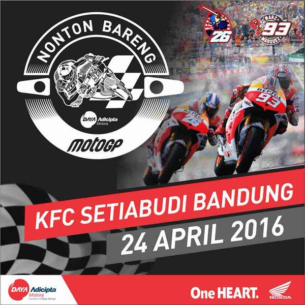 Nobar MotoGP bandung