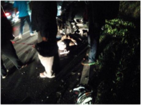 Kecelakaan Satria FU vs Mobil di Ciater2