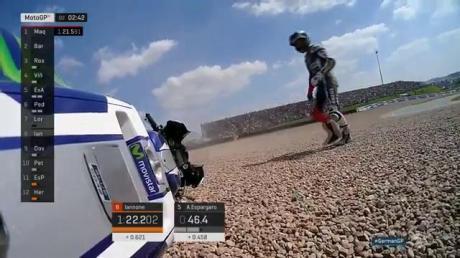 Lorenzo crash lagi di kualifikasi sachsenring