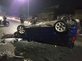 Kecelakaan mobil Jazz fly over kiaracondong
