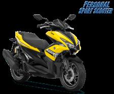 Yamaha Aerox 155 VVA-R Warna baru 2018 kuning