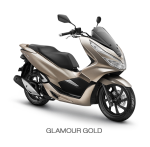 Honda PCX 150 2018 Glamour gold emas