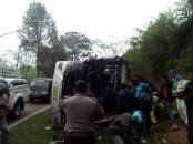 Kecelakaan tanjakan emen bus tangerang 10 Februari 2018