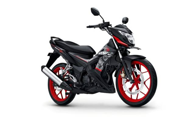 Warna Agresso Matte Black Sonic 150R 2018
