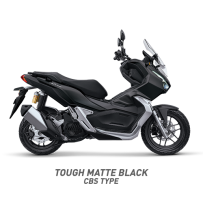 TOUGH MATTE BLACK CBS TYPE HONDA ADV150